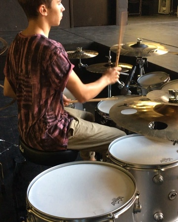 """I G O R F A L E C K I on Instagram: """"➡️🥁🎼🎶drummer drumset performance vf15 @sabiancymbals_official @gewadrums @dwdrums @cympad @vicfirth @theb..."""