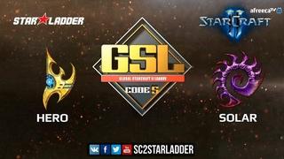 2018 GSL Season 3 Ro32, Group D, Match 2: herO (P) vs Solar (Z)