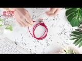 pu leather braided bracelet earphone.mp4