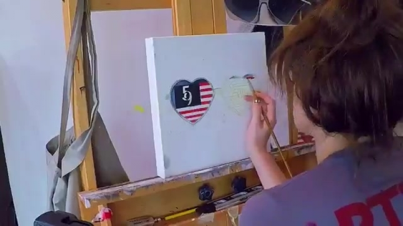 FiveNine is here, friend. Its time to take back whats ours. - - Enter for a chance to win an fsociety painting by @CarlyChaikin.