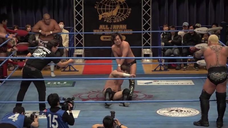 Jun Akiyama, Ryoji Sai, Koji Iwamoto, Atsushi Maruyama vs. The Bodyguard, Dylan James, Yohei Nakajima, Hikaru Sato (AJPW - Champ