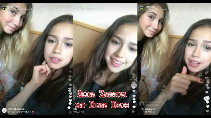 ALINA ZAGITOVA and Diana Devis in PERISCOPE. ARCHIVE FOR FANS 29.06.2017