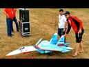 HUGE RC SUKHOI SU 27 UB FLANKER SCALE MODEL TURBINE JET FLIGHT DEMONSTRATION Jetpower Fair 2016