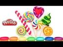 Лепка Радужные Леденцы Конфеты Как слепить Lollipop из пластилина плей до Видео Урок лепки Play doh