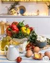 Киш с томатами и шпинатом