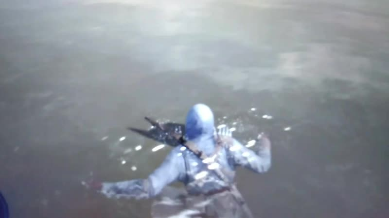Altair goes for a swim