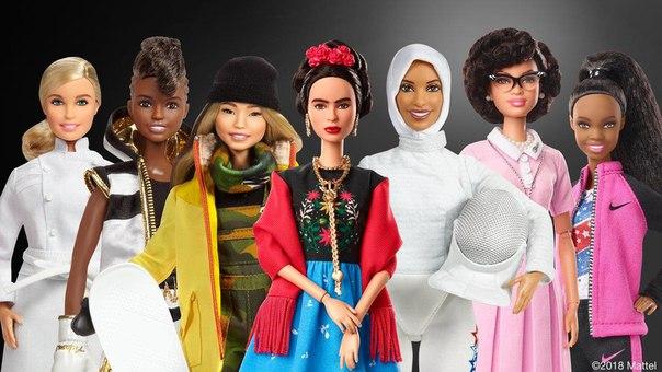 Barbie создали коллекцию, посвященную легендарным женщинам