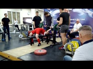 Чемпионат ДВ, жим 1 подход - 50 кг