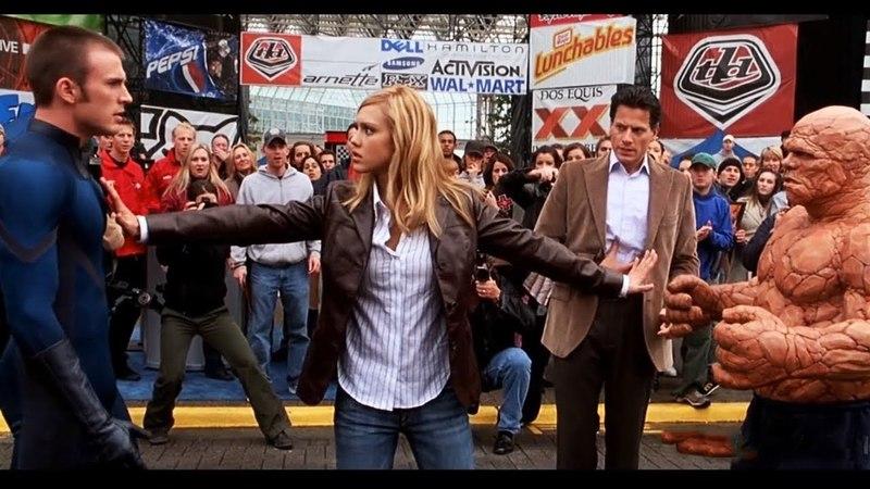 Драка Человека-факела с Существом. Фантастическая четверка. 2005