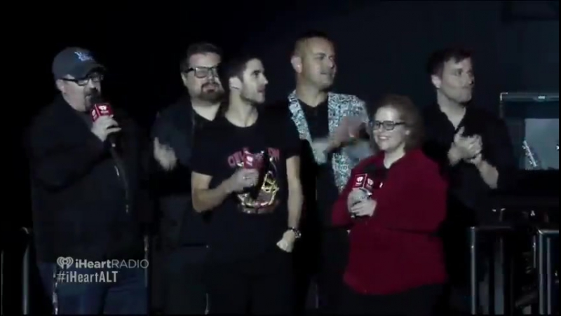 Darren Criss introducing SPOON at the iHeart ALTerEgo Live show