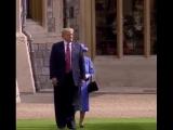 Трамп и Королева Елизавета II