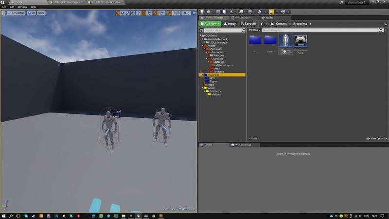 2. Анимация Unreal Engine 4 - Начальная работа с анимацией - Персонаж.