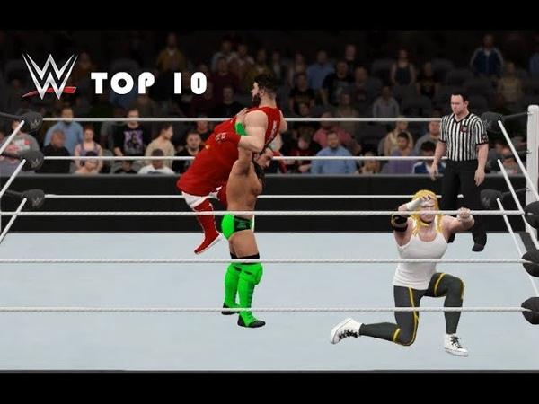 TOП 10 Реслинг моментов с WrestleMania 2018| WWE 2K LINGOS