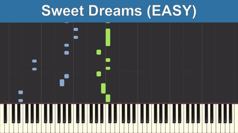 Sweet Dreams - Eurythmics (EASY) - Synthesia Piano Tutorial