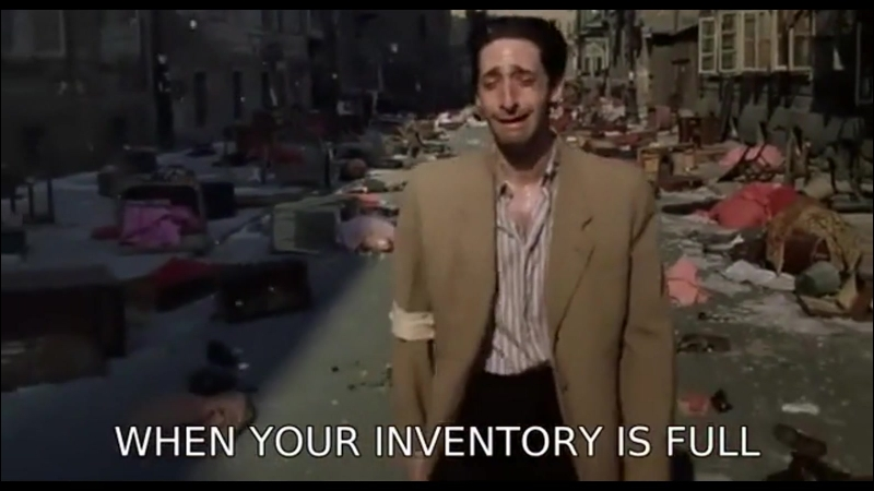 When your inventory is full...