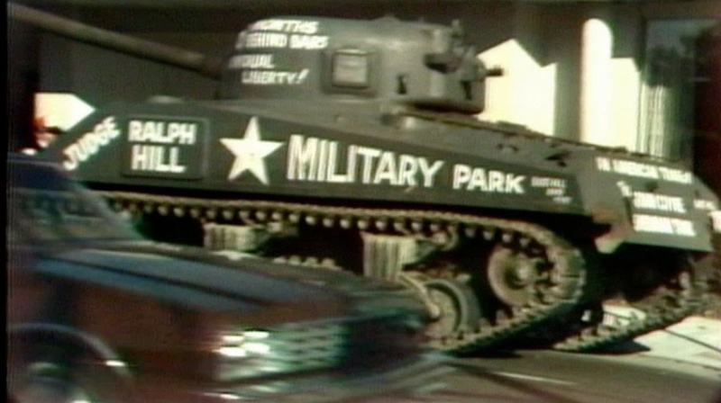 John Coyne drove WWII tank on streets