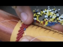 A lesson in beading peyote stitch
