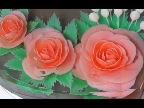 Rau câu sinh nhật Most Satisfying Cake Decorating Video