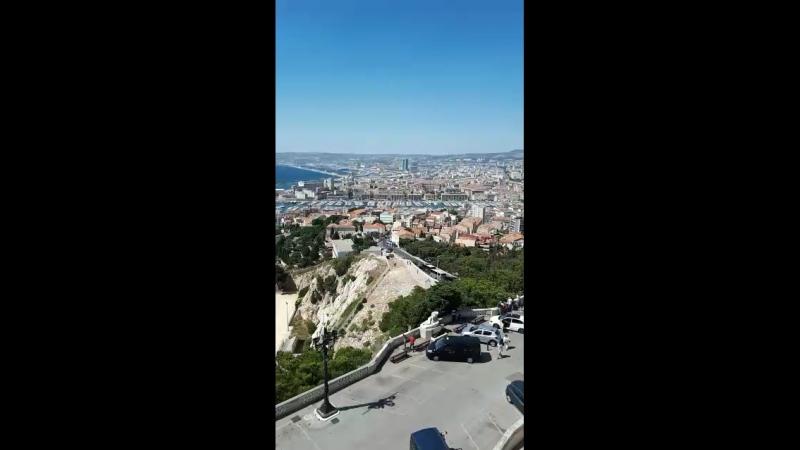 В Марселе на самой высокой точке в соборе Нотер дам де Гарде!