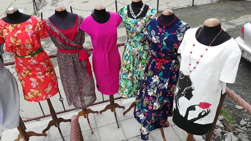 Летние платья с 40 по 70 размер! Однотонные и цветные! Разнообразие фасонов!