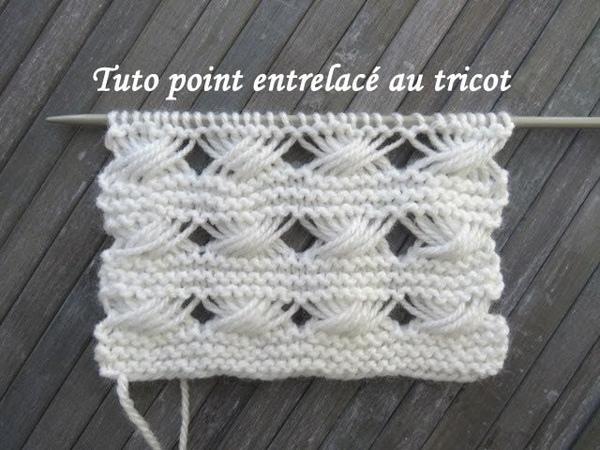 TUTO POINT TORSADE ENTRELAC Entrelac stitch knitting PUNTO TORSADAS ENTRELAZADO DOS AGUJAS
