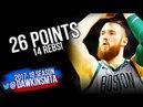 Aron Baynes Career-HiGH 26 Pts 2018.4.11 Boston Celtics vs Nets - in 3 Quarters! | FreeDawkins