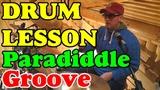Funk &amp Jungle Paradiddle Grooves Drum lesson Урок игры на барабанах Clases de bateria