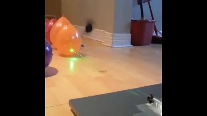 лопаем шары лазером