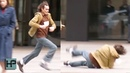 Joaquin Phoenix Falls Hard While Filming 'Joker' in NYC