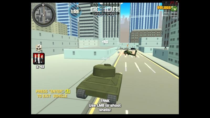 Crime City 3D - багующая машина и непробиваемая машина