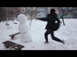 Прикол Как отпиздить снеговика 2015 Юмор...а  Форсаж (720p).mp4