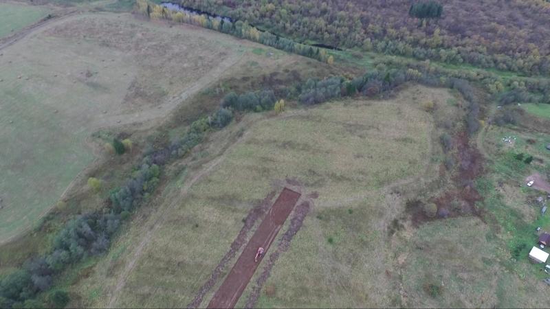 Начало строительства дороги у участкам ИЖС в д. Княжево