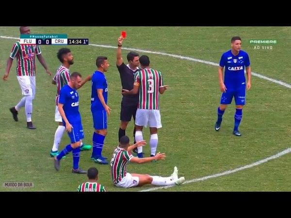Gilberto agride Sassá e acaba EXPULSO - Fluminense x Cruzeiro