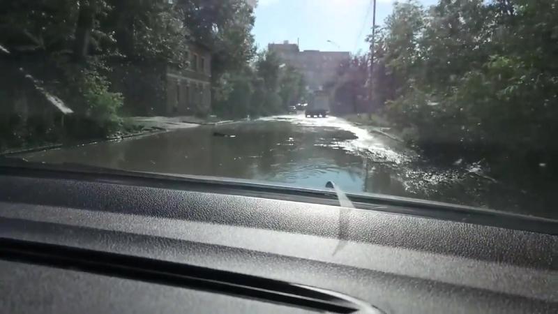 Улица Завокзальная после дождей превратилась в море