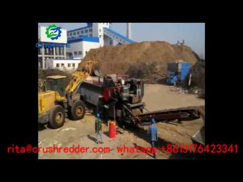 40 60t per hour mobile wood chipping crusher for biomass power plant древесная дробилка
