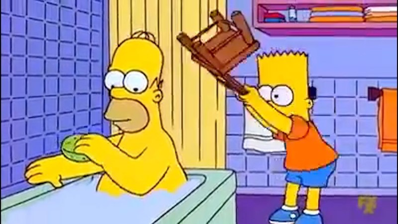 Bart Hits Homer With A Chair Meme Compilation