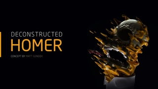 Deconstructed Homer - Zbrush / Houdini / C4D