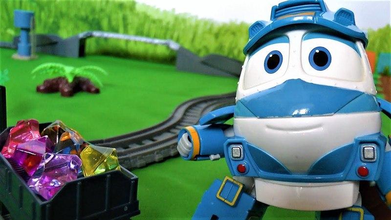 Томас и роботы поезда Дюк мешает играть в игрушки Видео для детей