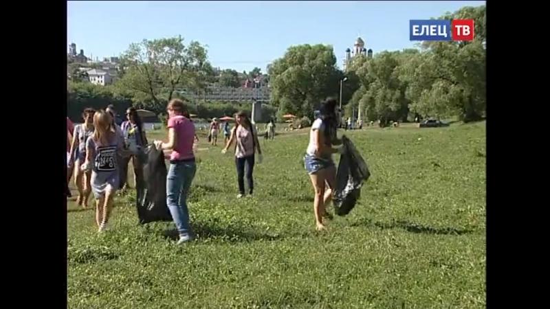Елецкие добровольцы присоединились к Всероссийской экологической акции «Вода Рос