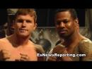 Saul Canelo Alvarez vs Shane Mosley Weigh Ins