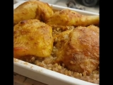 Вкусный рецепт курочки, запеченной на гречневой подушке