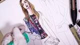 GLAM ROCK. BALMAIN PRE-FALL 2018 Fashion Drawing