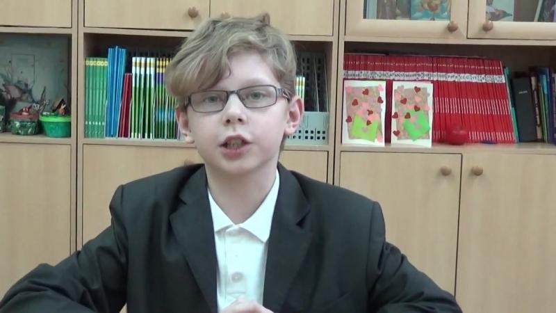 Огурцов Глеб читает стихотворение С.Михалкова Фома.