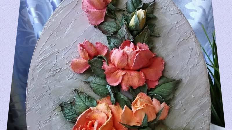 Цветочные панно в технике скульптурная живопись. Автор Оксана Бескровная