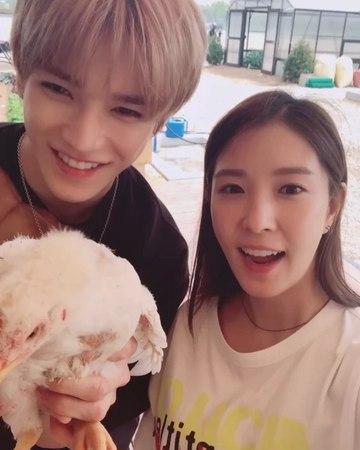 "BoA on Instagram ""식량일기 이번엔 닭에게...😭(소리 크게 듣지 마세요) tvn 5월 30일 첫방송💚"""