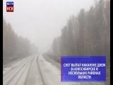 В Новосибирской области выпал первый снег