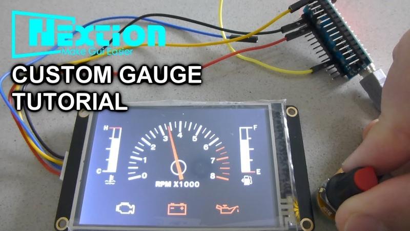 NextionArduino Tutorial 4 Custom Gauge And Play Video
