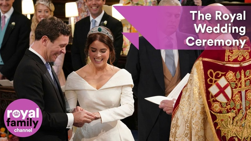 Royal Wedding Ceremony Princess Eugenie and Jack Brooksbank tie the knot at Windsor Castle