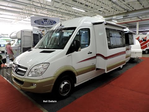 Motorhome Neway, MB Sprinter 2016, com dois Slides-Outs, Expo Motorhome, 2016.