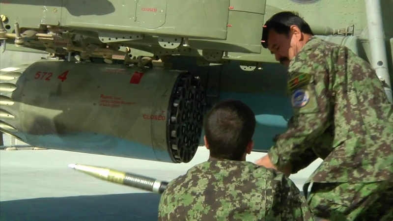 Afghan Air Force Arms MI 17 Helicopters with 57mm Rockets